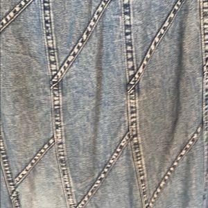 Vintage studio west denim skirt, size large
